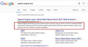 تغییر اسنیپت ها در نتایج جستجو گوگل